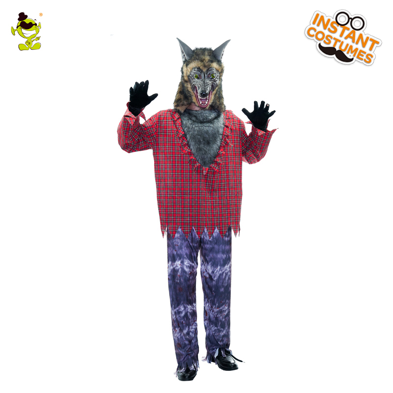 adult men werewolf costume halloween party high quality role play cosplay horror wolfman clothes for adult men werewolf costume on aliexpresscom alibaba