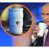 Putin's Same Thermal Cup Putin Same Mug Trump Putin G20 Toasted Thermal Cups Ceramic Cups QP2
