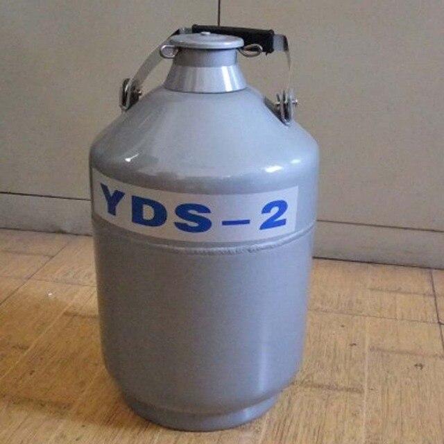 1PC YDS-2 Aluminium Legierung Flüssigkeit Stickstoff Behälter Flüssigkeit Stickstoff Container Dewar Stickstoff Flüssigkeit