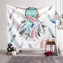 Cilected полиэстер ткань Ловец снов гобелен настенный висящий богемский Красочный перо двери занавес домашние декоративные гобелены