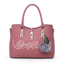 3Pcs Women Handbag Sets Embroidered Flower Ladies Handbags Floral PU Leather Shoulder Tote Bags+Female Messenger Bags+Purse Sac