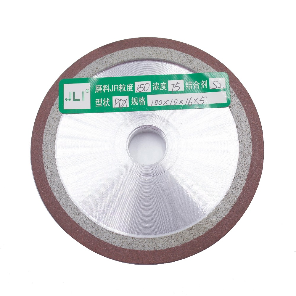 JLI 1 Pc Diamond Wheel 150/180/240/320/400 Grits 100mm Abrasive Disc Degree For Saw Blade Grinding Disc Rotary Tools jli 125mm 120 150 180 240 320 diamond grinding wheel cup grinding grain cutting saw blade disc bowl rotary abrasive tools