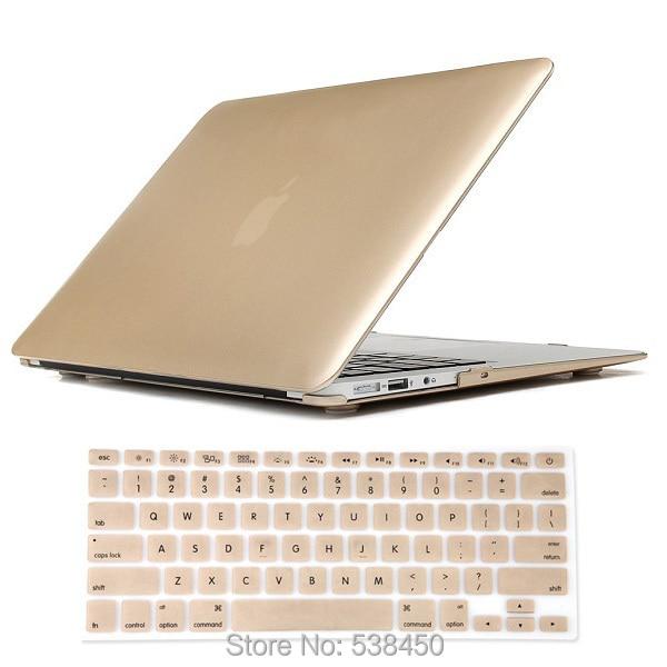 Бесплатная Доставка Шампанское Золото Жесткий Чехол + Крышка Клавиатуры для Macbook Air 11 13 Pro 13 15 + сетчатки