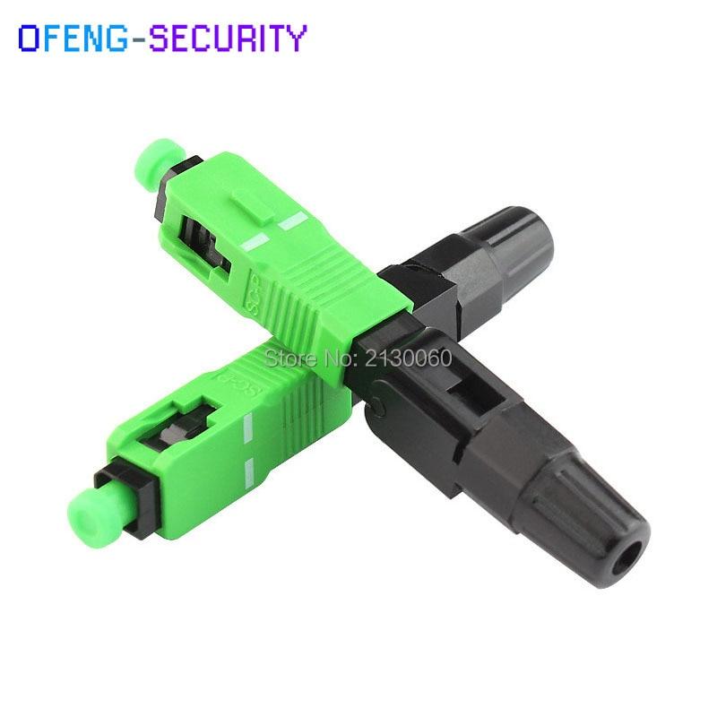 100Pcs/ Lot FTTH Tool Cold Connector Tool SC/APC Optical Fiber Fast Connector