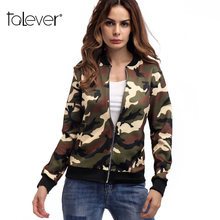 2018 Fashion Autumn Women's Camouflage Jacket Suit Casual Office Lady Jacket Coat Elegant Baseball Uniform Jackets Talever