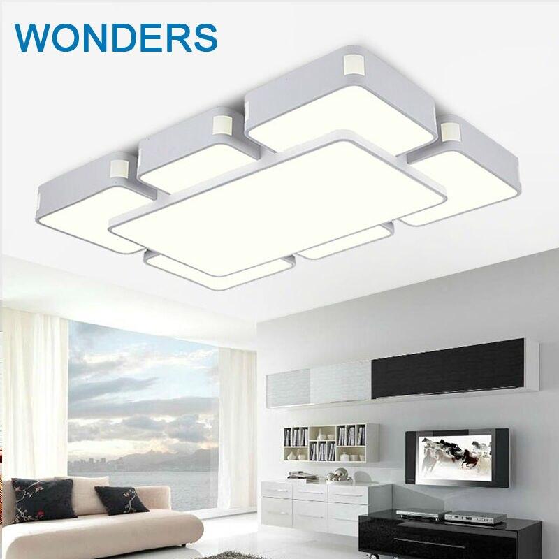 Современные светодиодные потолочные лампы 48 Вт, лампы для спальни, 4 головки для гостиной, кухни, потолочный светильник для балкона, 90 260 В,