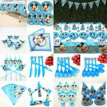 Mickey Mouse Birthday Party Supplies Baby Shower Favors Boy Anniversary Decoration Kids