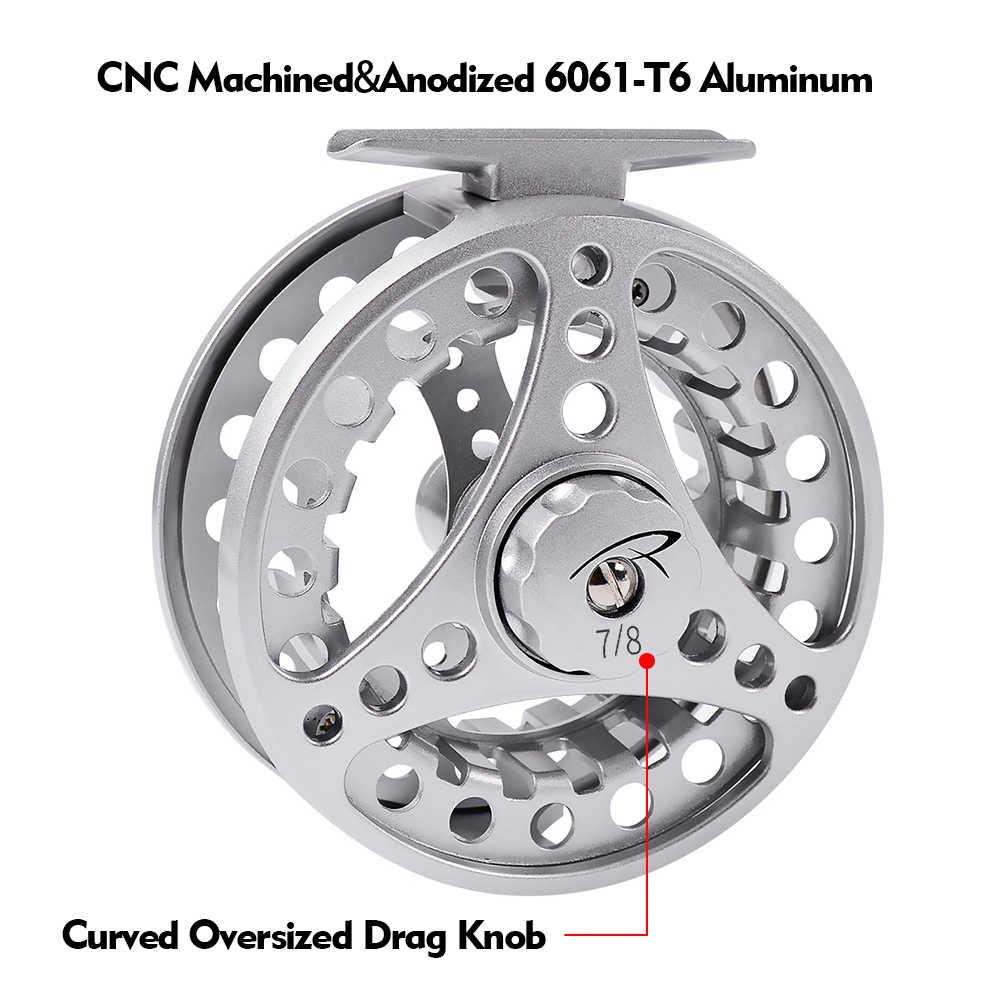 3 + 1BB 4 Kleuren Vliegvissen Reel Aluminium Fly Reel CNC Machine Gesneden Grote Prieel Spuitgieten Vliegvissen wiel 3/4-5/6-7/8 GEW