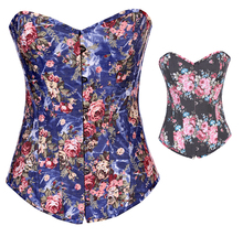NEW rose flower jacquard wedding underbust Sexy Waist Workout Cincher Body Shaper Shapewear Corset S-XXL 0858 Women girl