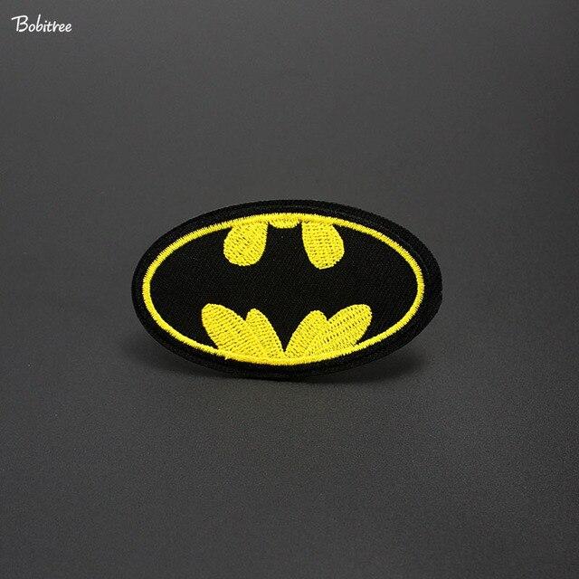 Batman Etiket Işlemeli Yamalar Rozeti Giysi Demir on Dikiş Çıkartmalar Bez Dekorasyon Konfeksiyon Aplikler