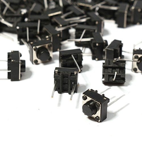 Free shipping 100PCS/LOT 6*6*5MM micro switch touch switch button switch 2 pin DIP middle