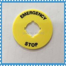 10 шт пластиковые значки для аварийной остановки 16 мм