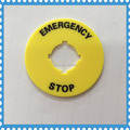 10pcs 16mm mounting hole  Push Button Switch Label Frame Emergency  Stop Plastic Sign  Warning Ring OD 40mm