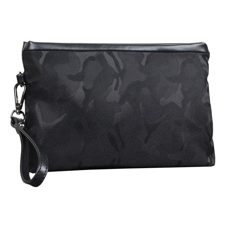 Mens hand holding nylon casual envelope Wallets Handbag Business Card Holder Coin Purse Pocket Male Long Zipper Clutch Pouch