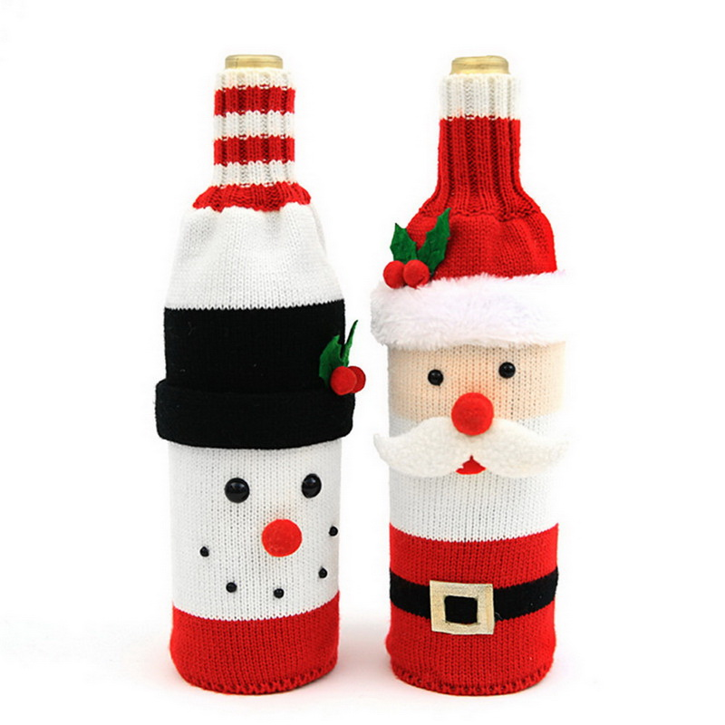 Dust Covers 1pcs Table Decorations Wine Bottle Cover Ornament Wedding Table Decorations Novelty Decoration Snowman Santa Clause Lovel Possessing Chinese Flavors Home & Garden