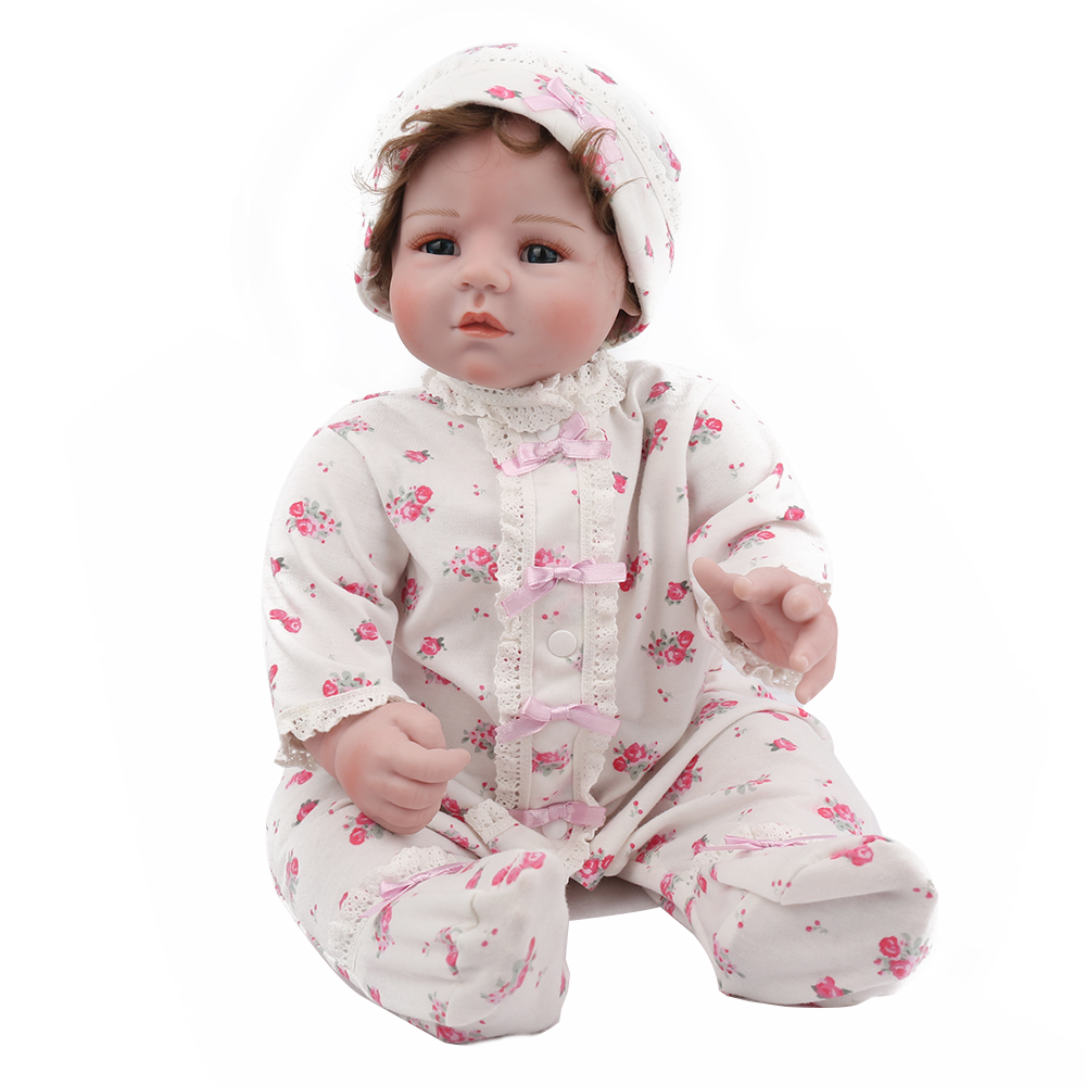 50cm Silicone Reborn Baby Dolls Baby 20inch vinyl newborn collectible Doll lovely infant modeling real touch lovely Xmas gift50cm Silicone Reborn Baby Dolls Baby 20inch vinyl newborn collectible Doll lovely infant modeling real touch lovely Xmas gift