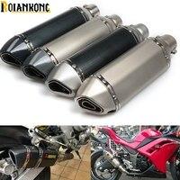 Exhaust Motorcycle Universal Muffler Motorbike 51mm Inlet Exhaust For Honda Kawasaki Yamaha KTM DUCATI ATV AK064