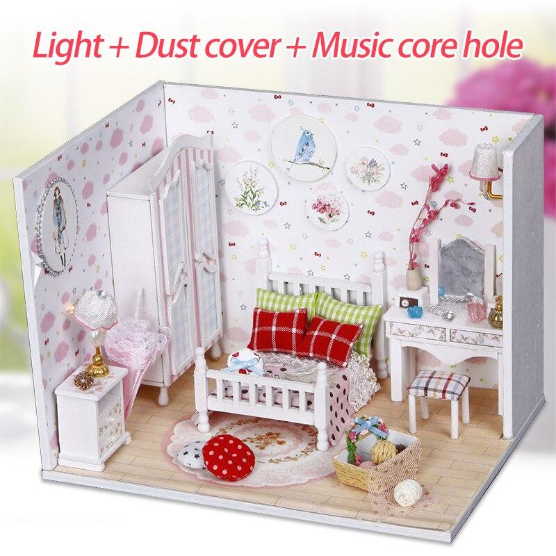 Diy Houten Zoete Droom Huis Miniaturas Met Meubels Diy Miniatuur Poppenhuis Speelgoed Voor Kids Kerst En Verjaardagscadeau Goede Reputatie Over De Hele Wereld