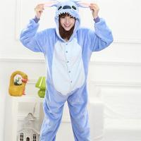 Animale Stitch Tutina Per Adulti Adolescenti Donne Pijama Kigurumi Pigiama Divertenti Flanella Caldo Morbido Complessiva Onepiece Notte Casa Tuta