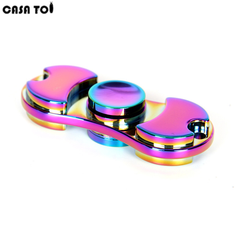 New pattern Colorful Hand Tri-Spinner Fidgets Toy Torqbar alloy EDC Sensory Fidget Spinners For Autism And Kids/Adult Funny