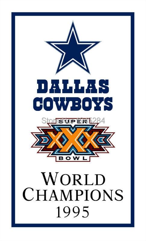 ᗑNFL Dallas Cowboys Campeones del Mundo 1995 bandera 3x5ft 90x150 ...