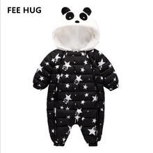 Winter Baby Rompers Overalls Clothes Jumpsuit Three-24Mouth Panda Newborn Girl Boy Duck Down Snowsuit Kids toddler Snow Wear Outfits