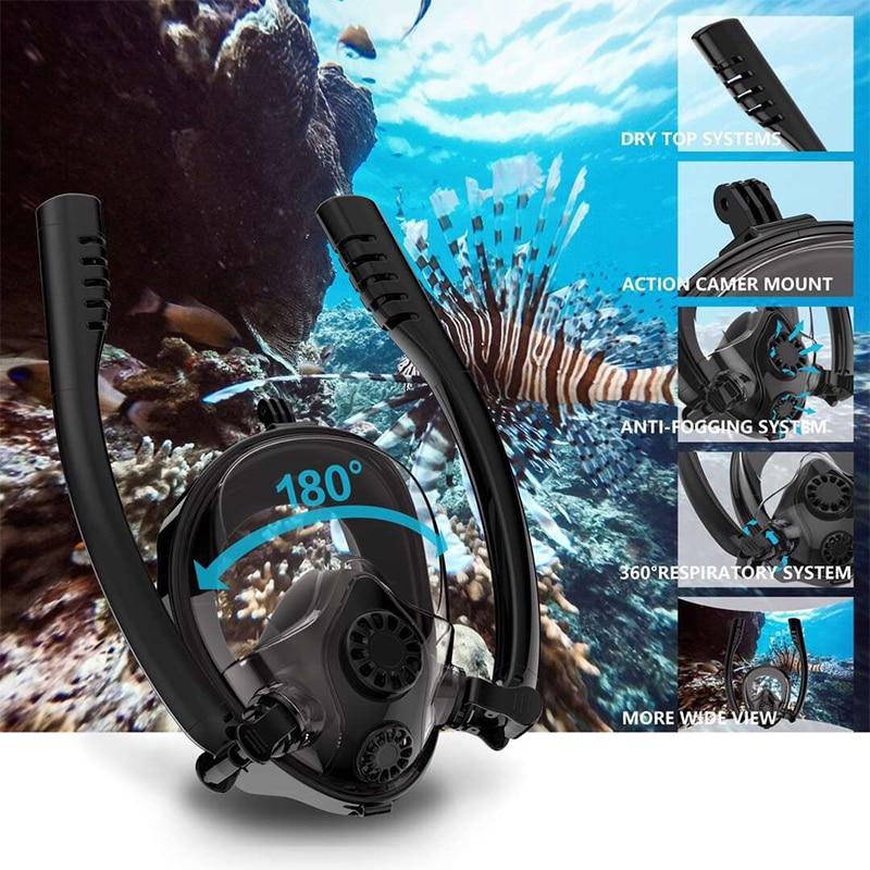 Équipement de plongée sous-marine masque de plongée en Silicone pour adultes enfants masque de plongée en apnée
