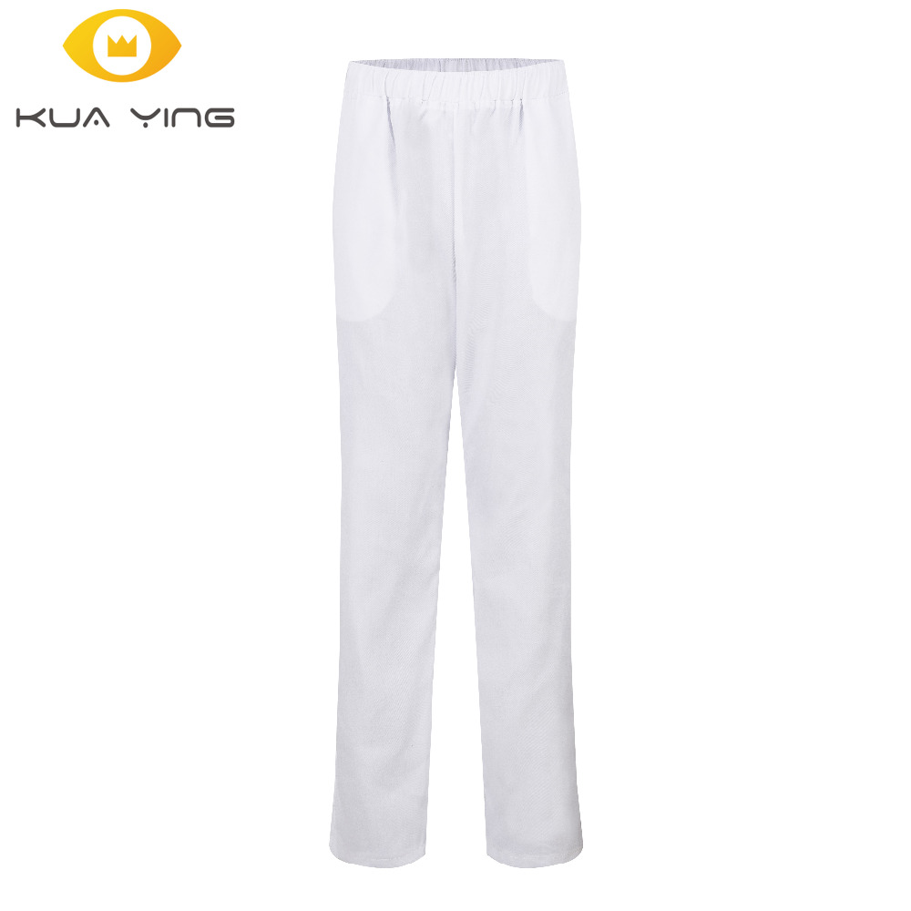 chef uniform pants restaurant kitchen trouser black elastic Waist Bottoms cook Service mens work wear pants