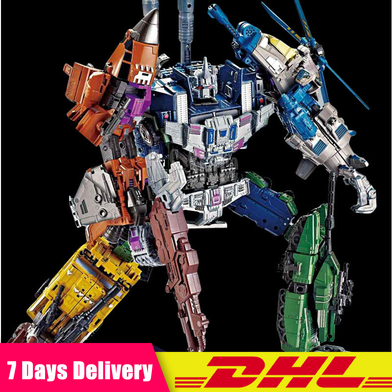 5 IN 1 DHL Transformation Bruticus Anime Oversize Devastator Robot Car Action Figures Military Tank Model Toys Boys Gifts thinkeasy 8 pcs set puzzle transformation star wars space cars prime bruticus action figures block toys for kids birthday gifts