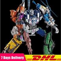 5 IN 1 DHL Transformation Bruticus Anime Oversize Devastator Robot Car Action Figures Military Tank Model Toys Boys Gifts