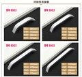 Solo Orificio de la Perilla de CC 96mm/128/160mm/192mm/224mm mango de aluminio Espacio Muebles de cocina tirones armario manija manija del cajón