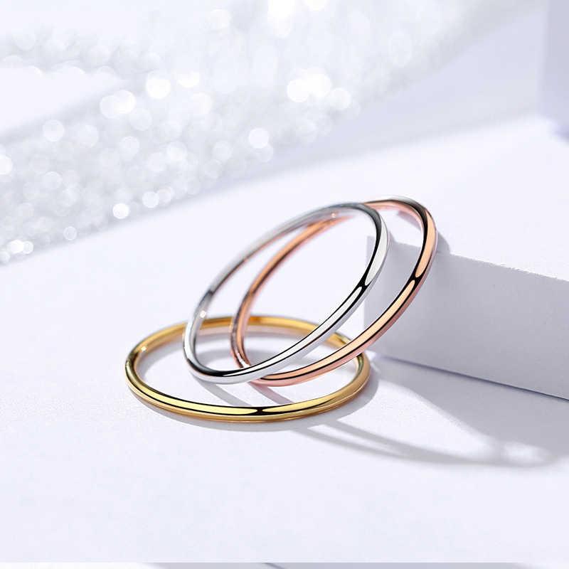 BALMORA 1 قطعة خاتم إصبع صغير مستدير 100% ريال 925 فضة مجوهرات خواتم حلقة مشتركة للنساء فتاة هدايا الحفلات JR381Y