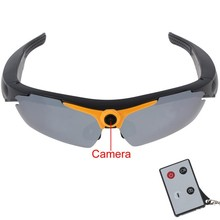 hd 720p digital video sunglasses with remoter control/wirless camera sunglasses free shipping