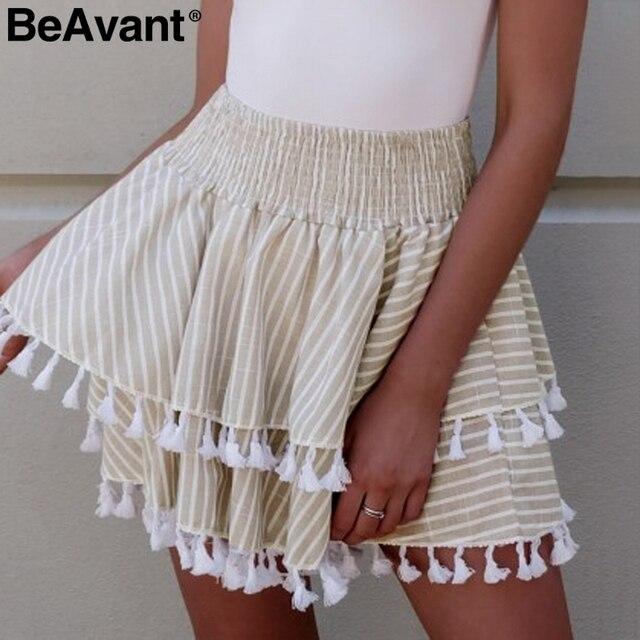 Short white mini skirt variant