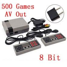 Mini TV Game Console 8 Bit Handheld AV Saída Embutido 500 Jogos Retro Video Game Consola de Jogos Portátil Jogador Melhor presente