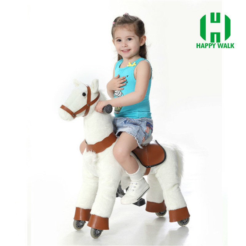 Good Sale Children Riding Mechanical Walking Horse Toy Rocking Animals Ride Plush Toys Hobby Horse Pony Scooter M Size for Kids children rocking horse gift baby eating chair music ride on toy cute duck birthday walker amphibious toys 2 kinds of functions