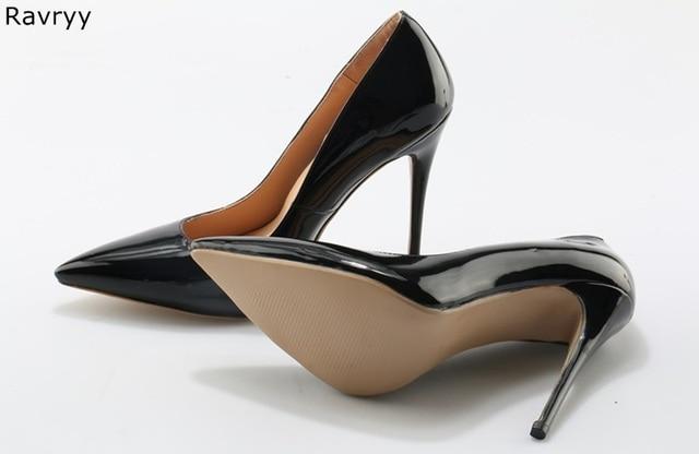 ce8a67b8bd2 Zapatos de tacón alto negros de tacón alto con puntiagudos zapatos de tacón  fino de 10