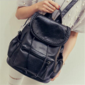 2017 New Women Black Backpack Leather Preppy Style School Bags for Girls Travel Shopping Bag Casual Waterproof Femme Sac A dos