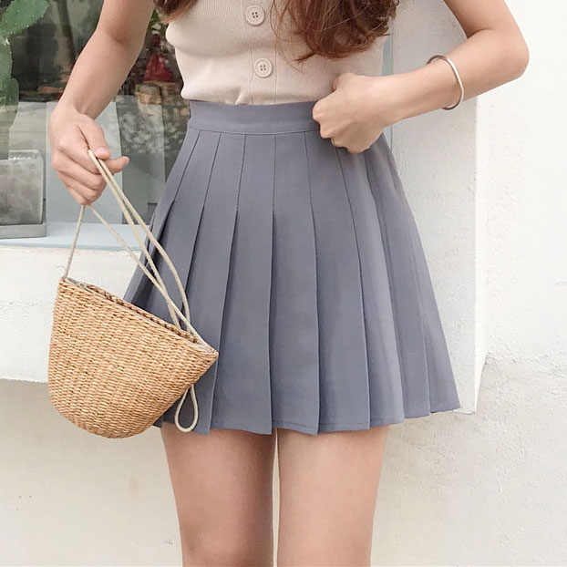 98ba1f5e77e High Waist Lolita Pleated Women Skirts Girls Mini Sailor Skirt Plus Size  School Uniform Skirts Saias