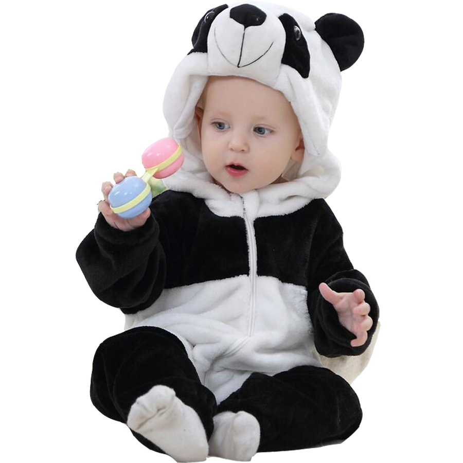 2018 Baby Rompers Panda Animal Baby Clothes 1st Birthday