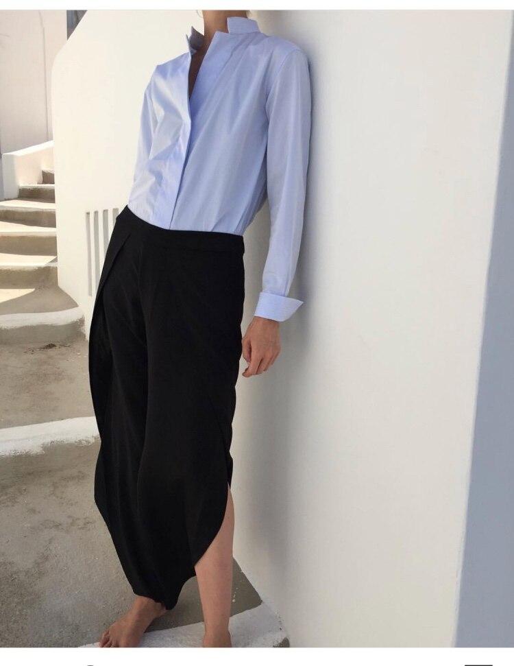 100% SEIDE Schwarz Toulon Hosen Schlitze Seite Frau Mode WEICHE Hose Hohe qualität-in Hosen & Caprihosen aus Damenbekleidung bei  Gruppe 1