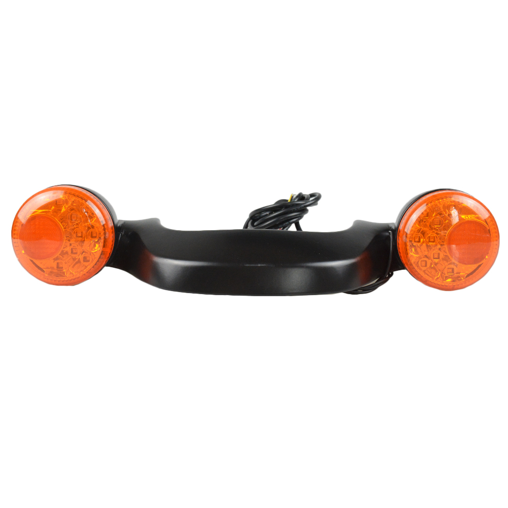 Motorcycle Black Rear LED Brake Light Turn Signal Bar For Harley Touring Street Road Glide 10-16 New