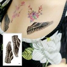Waterproof Body Art Feather  Boys Beauty Tools Tools Flash Temporary  Fake Tattoo Sticker For Men Women Wrist Leg T-067