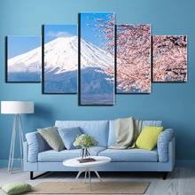 5 Pieces Snow Mountain Landscape Picture Home Decoration Canvas Print painting beautiful for living room F2579