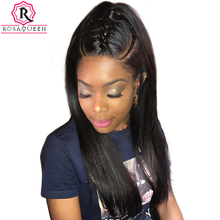 360 Lace Frontal Wig 180% Density Straight Lace Front Human Hair Wigs For Black Women Pre Plucked Full Ends Rosa Queen Remy