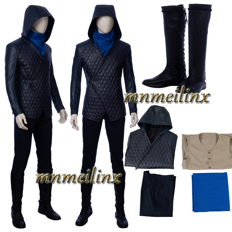2019 New Movie Robin Hood Cosplay Costume Taron David Egerton Full Set Custom Made Halloween men's Outfit