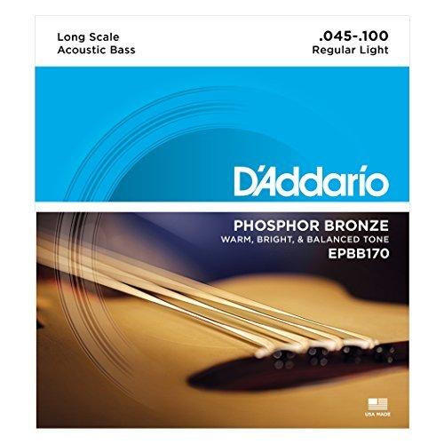 D' Addario EPBB170 Phosphor Bronze 어쿠스틱베이스 스트링, Long Scale, 45-100