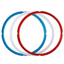 Силиконовое уплотнительное кольцо для скороварки, аксессуары для кастрюль, подходит для 5 или 6 моделей кварта, красный, синий и общий прозрачный белый, P