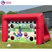 цена 4*2*2.5m inflatable soccer target cheap price PVC soccer shooting gate high quality inflatable football target for kids онлайн в 2017 году