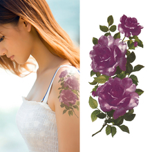 Ice Purple Flower Tattoo Designs Rose Temporary Tattoo For Women Waterproof Stickers YM-X277